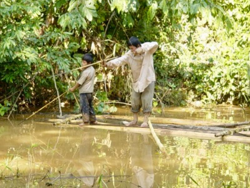 Tsimane Father and Son Hunting